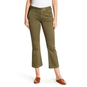 FRAME Le Crop Mini Boot Stretch Pants NWOT! Olive